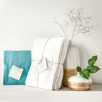 Taie d'oreiller coton lavé Soft Line  ESSIX