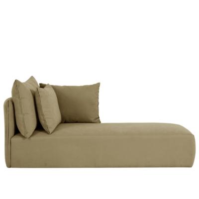 Chaise longue avec accoudoir droit ta ga - Tissu pour chaise longue ...