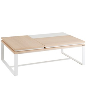 Table basse rectangulaire 2 plateaux  re