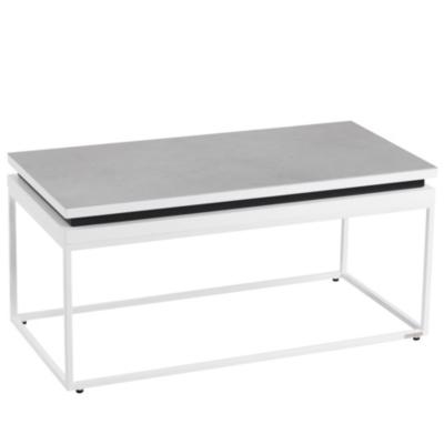 Table relevable basse dessus céramique  Mervent