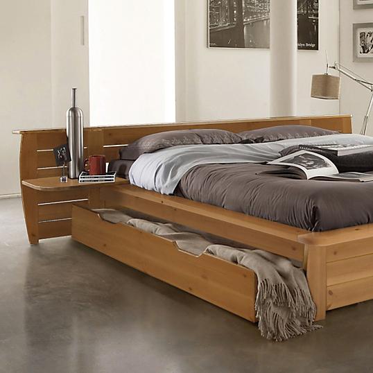 Lot de 2 tiroirs pour lit th o miel 140 x 190 cm - Lit 140 x 190 avec tiroir ...