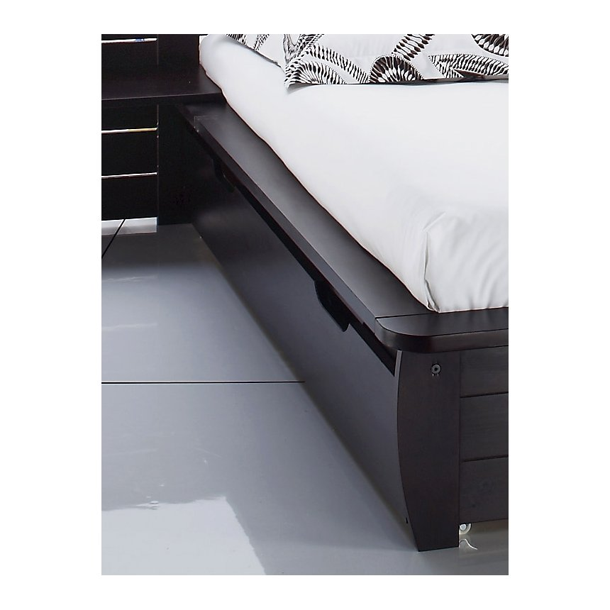 Lot de 2 tiroirs pour lit Théo wengé 140  x 190 cm