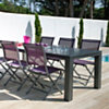 Table OCEO Aurore, 6/8 personnes taupe