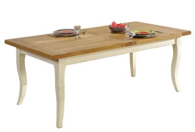 Table rectangulaire Marguerite  de Provence, 8 pers