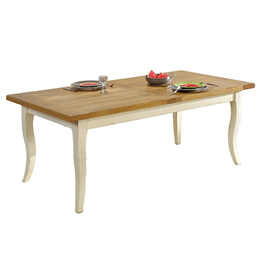 Table rectangulaire Marguerite  de Provence, 8 pers