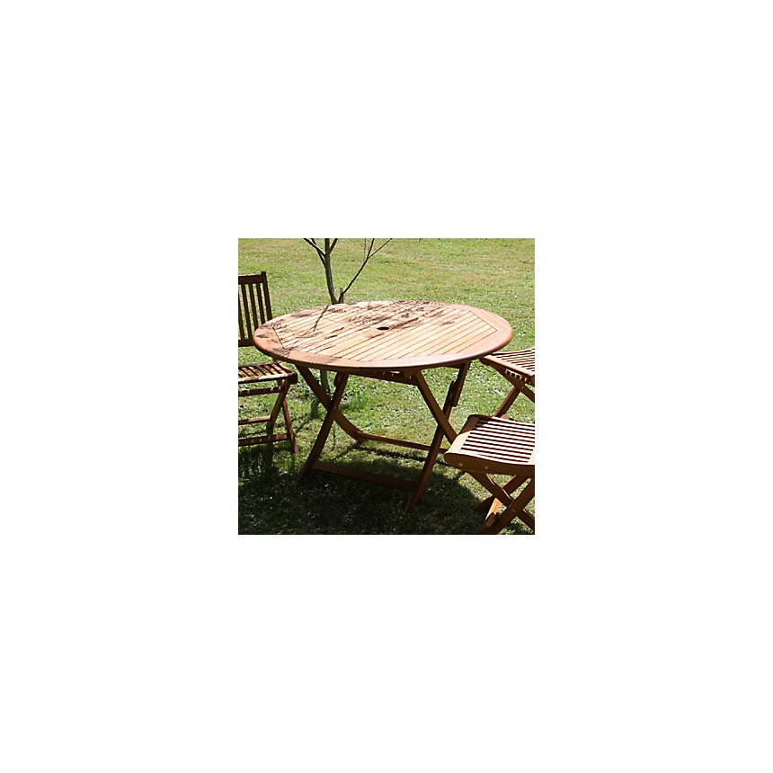 Table ronde Sophie diamètre 120 cm  Eucalyptus