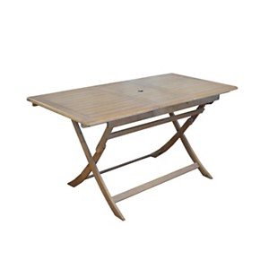Table pliante Theria en robinier cérusé