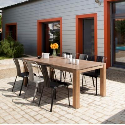 Table Kea Pro Loisirs en bois robinier  finition cérusé