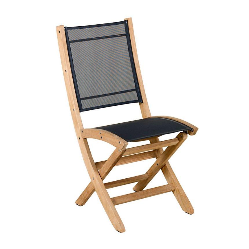 Lot de 2 chaises pliantes Tekura, teck toile Batyline®