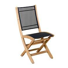 Lot de 2 chaises pliantes Tekura, teck/ ...