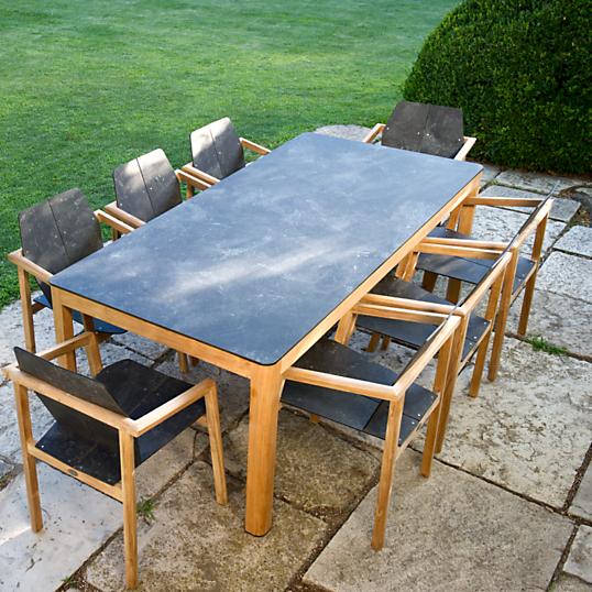 Table tekura teck hpl 6 8 personnes for Table teck 6 8 personnes