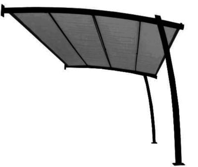 tonnelle adoss e bali avec toile r tractable pro loisirs. Black Bedroom Furniture Sets. Home Design Ideas