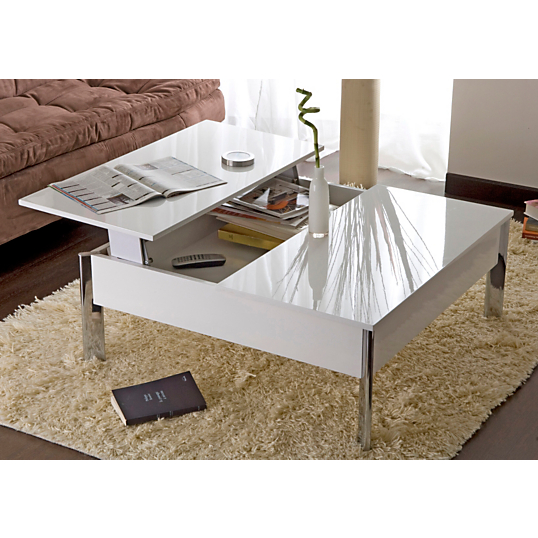 Table basse plateau relevable versus - Table basse blanche plateau relevable ...