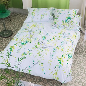 Housse de couette satin Willow Acacia  DESIGNERS GUILD