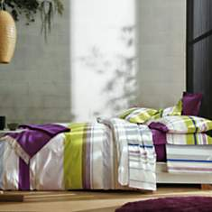 Taie percale Zenith Prune BLANC DES  VOS...