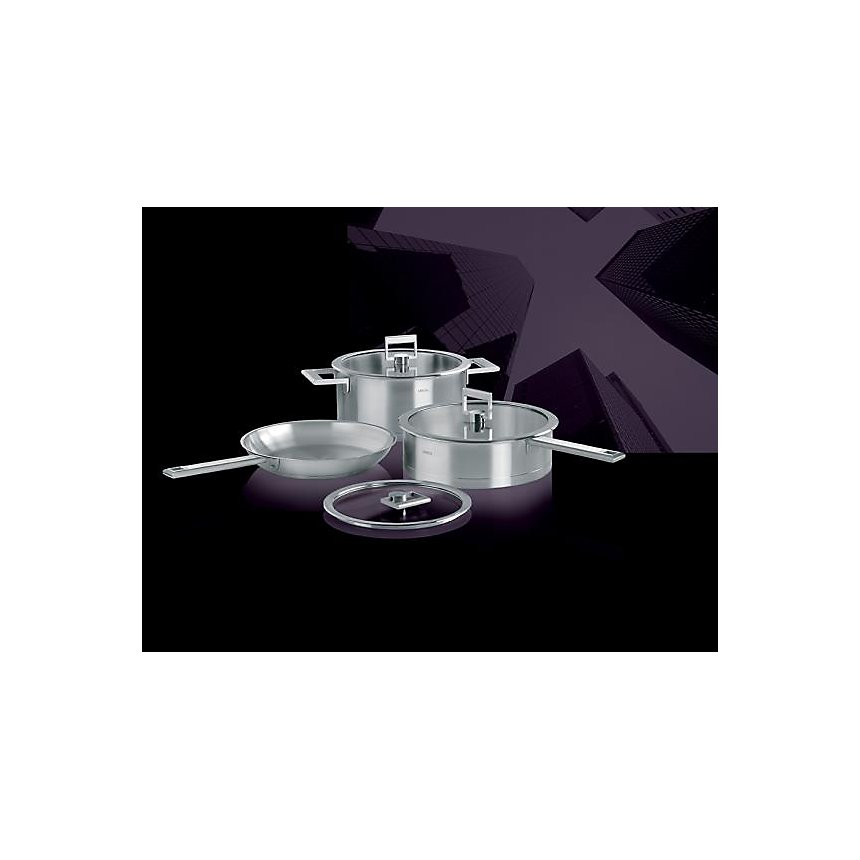 Sauteuse + couvercle CRISTEL Strate fixe  - 24 cm