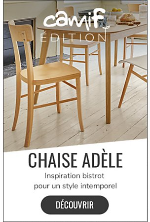 chaises salle a manger camif assise paille