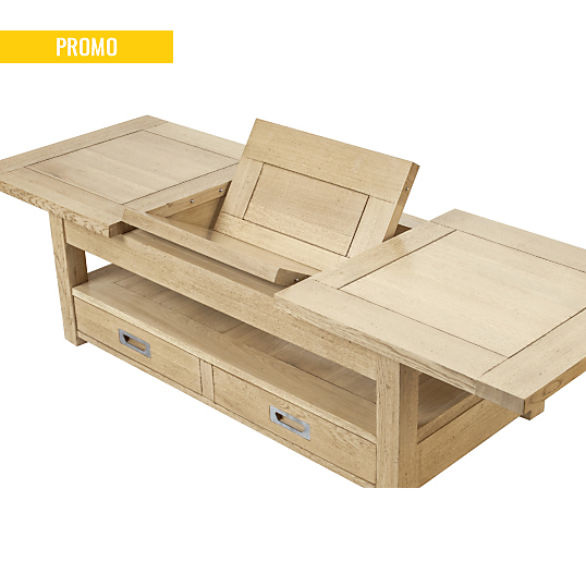 table basse avec allonge idalgo. Black Bedroom Furniture Sets. Home Design Ideas