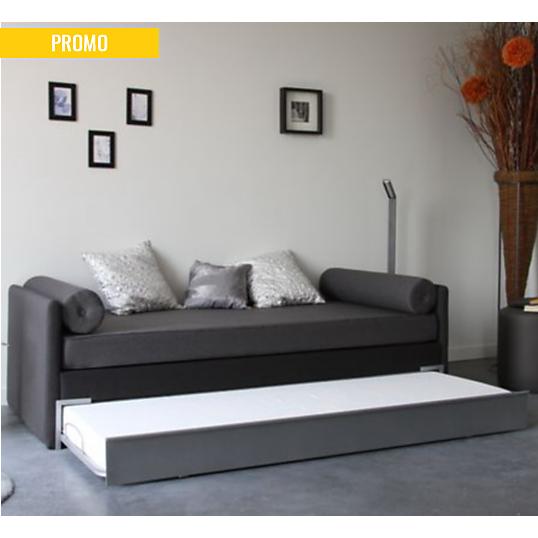 lit gigogne okapi avec coussins. Black Bedroom Furniture Sets. Home Design Ideas