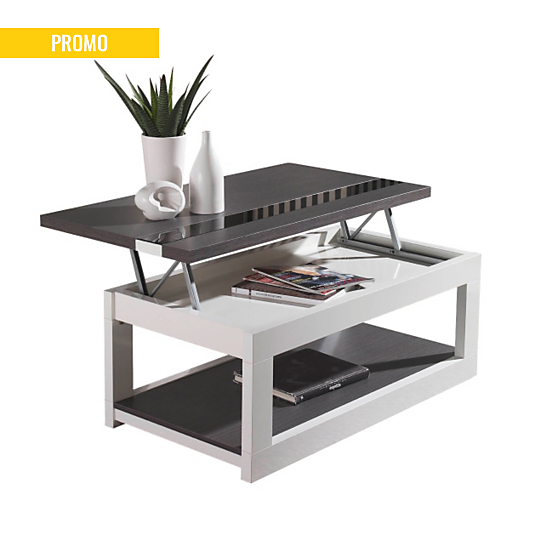 Table basse relevable zamora - Table basse camif ...