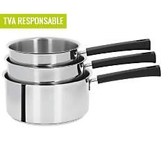 Set 3 casseroles CRISTEL Mutine poignée