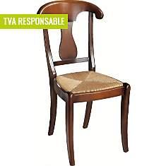 Lot 2 chaises paille Guérande merisier,