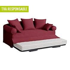 Canapé-lit gigogne tissu Hermitage