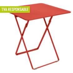 Table pliante carrée 2/4 personnes  Plei