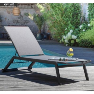 Lot de 2 bains de soleil empilables  Palma PRO LOISIRS
