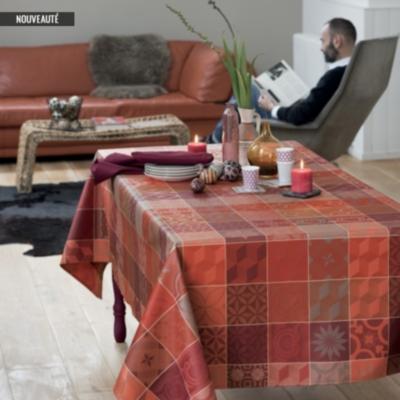 linge de table mille tiles garnier thiebaut terracotta. Black Bedroom Furniture Sets. Home Design Ideas