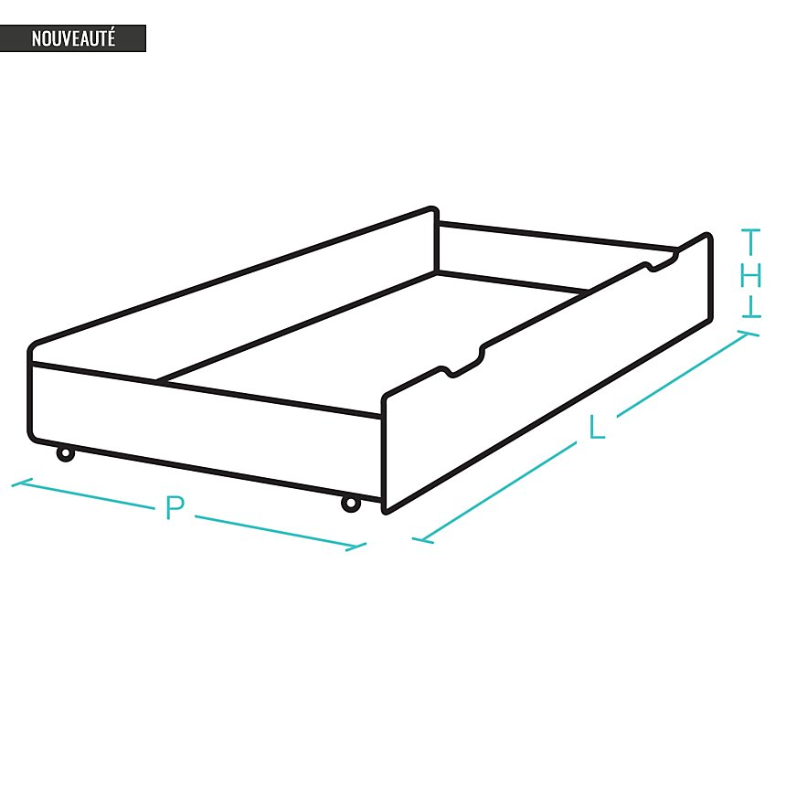 Option tiroir 140 pour lit Grégoire