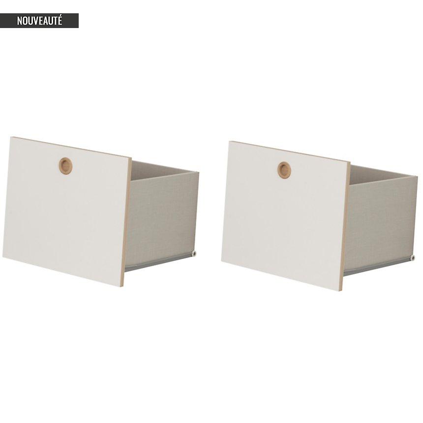 Option 2 tiroirs blanc Gabrielle