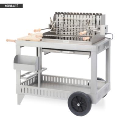 Barbecue sur chariot Exclusive Mendy  inox LE MARQUIER