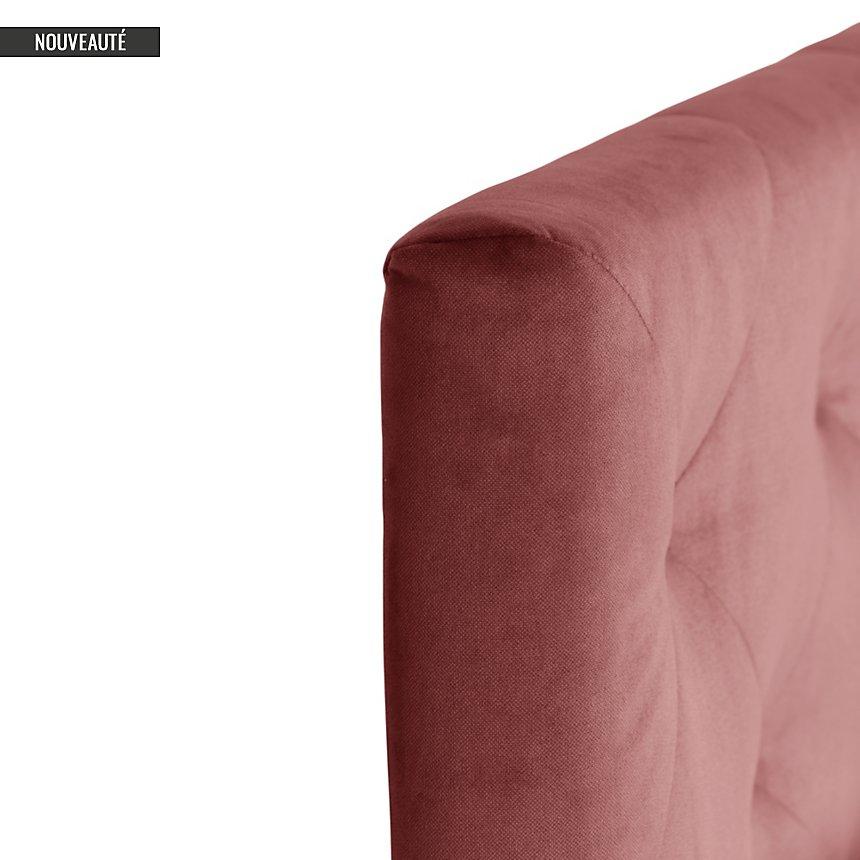 Tête de lit capitonnée velours Baronne