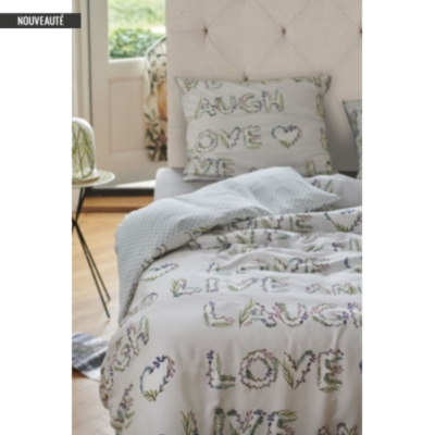 Taie percale Flores ESPRIT HOME