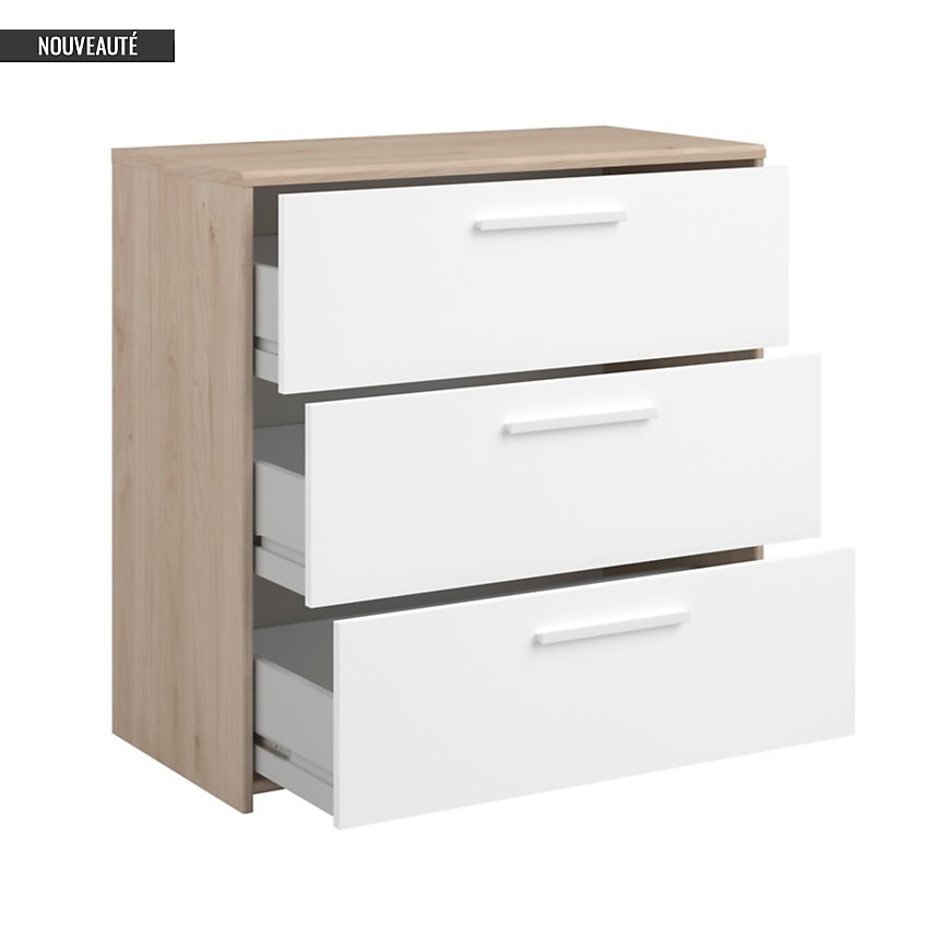 Commode 3 tiroirs Pacome