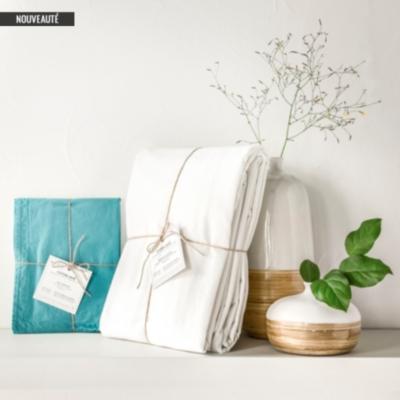 Drap housse coton lavé Soft Line ESSIX