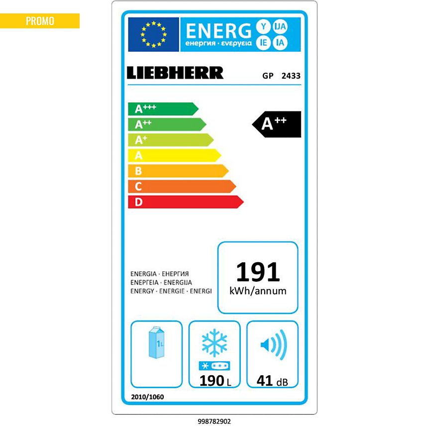 Congélateur armoire LIEBHERR GP2433  garanti 5 ans