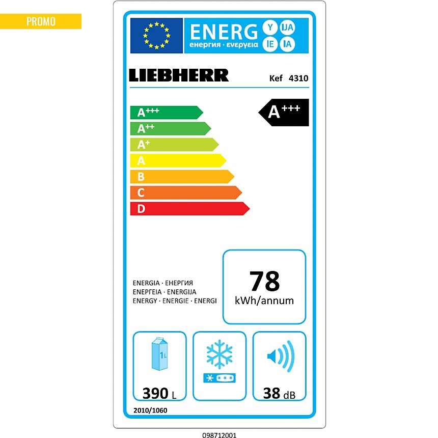 Réfrigérateur LIEBHERR KEF4310 garanti 5  ans