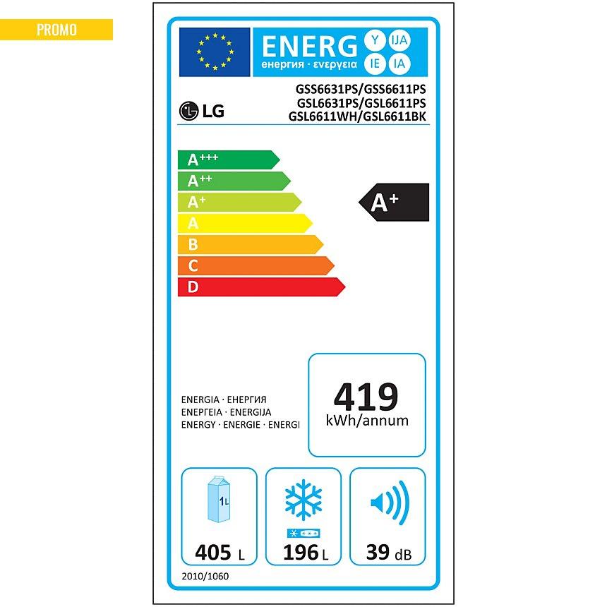 Réfrigérateur américain LG GSL6611PS  garanti 5 ans