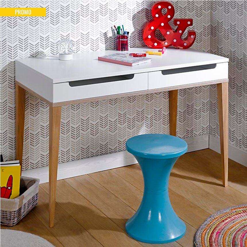 Bureau 2 tiroirs Solange