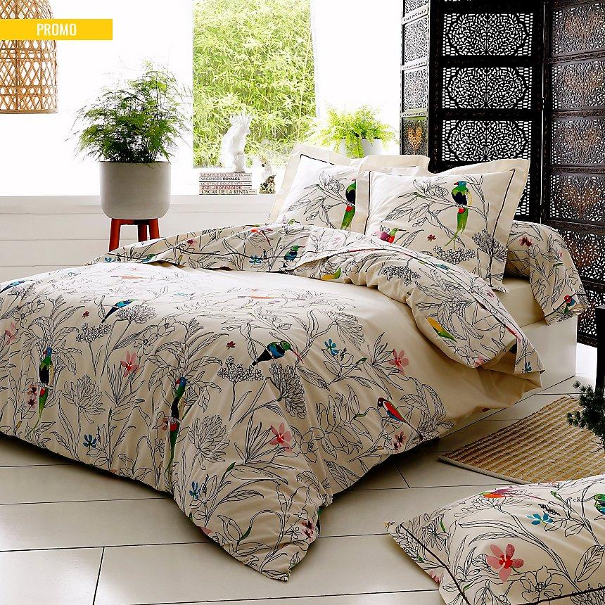 parure de lit coton brut amazonia tradilinge. Black Bedroom Furniture Sets. Home Design Ideas
