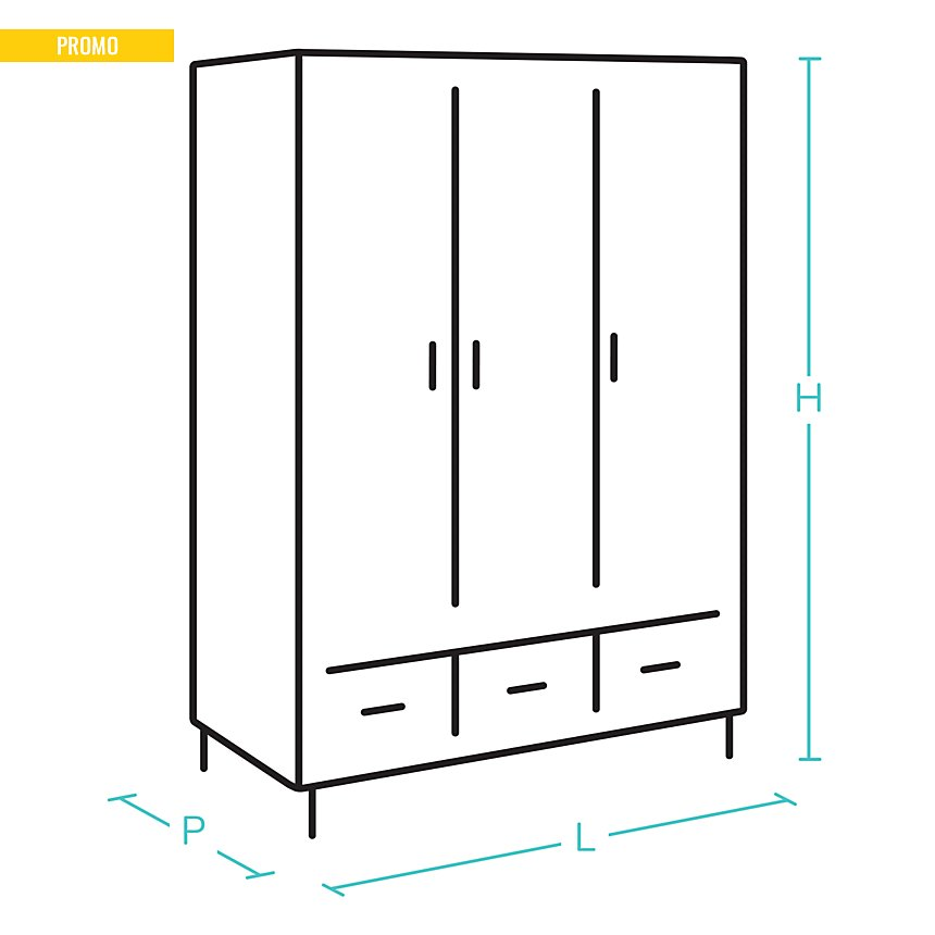 Armoire 2 portes coulissantes Givre GAMI