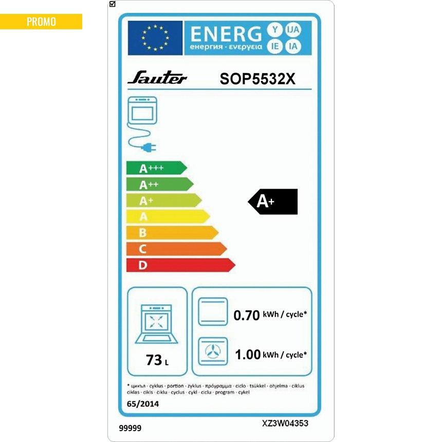 Four pyrolyse SAUTER SOP5532X garanti 5 ans