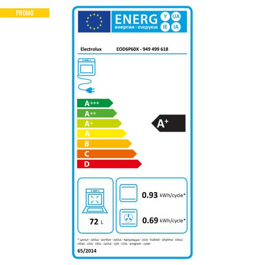 Four pyrolyse garanti 5 ans ELECTROLUX EOD6P60X