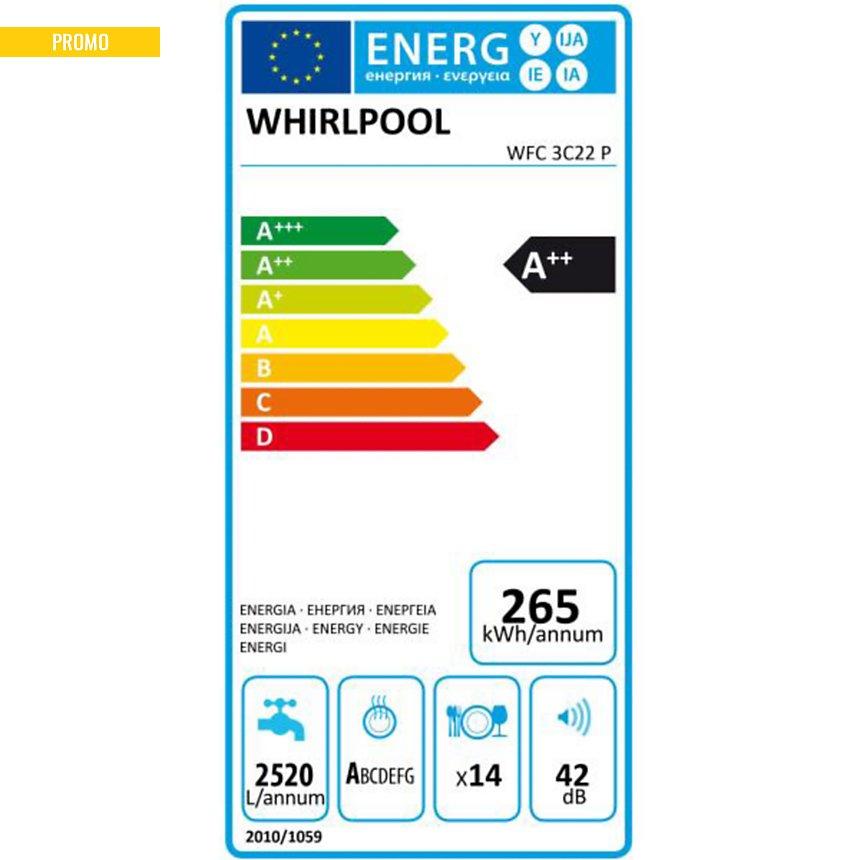 Lave-vaisselle WHIRLPOOL WFC3C22P