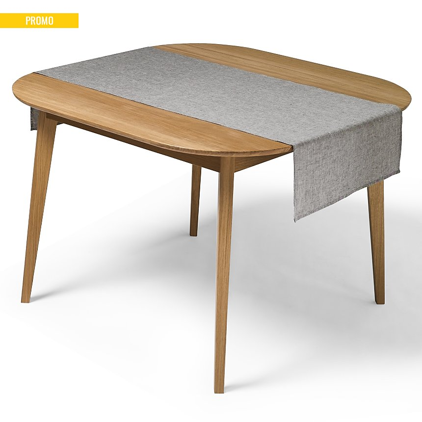 Chemin de table Chambray Lin Catherine  et Francine CAMIF EDITION, gris chiné