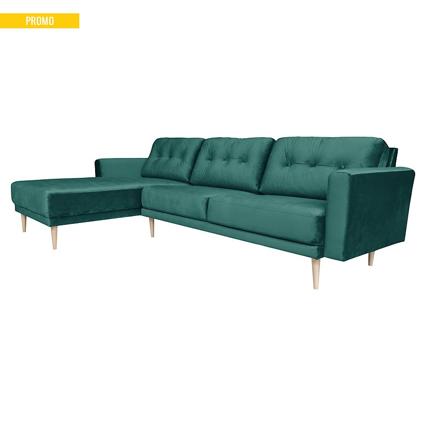 Canapé d'angle velours Franklin