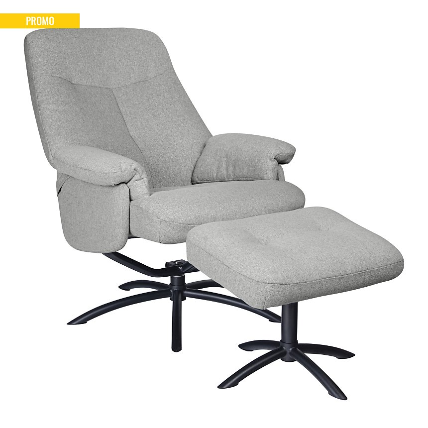 Fauteuil relax + Pouf tissu Neo