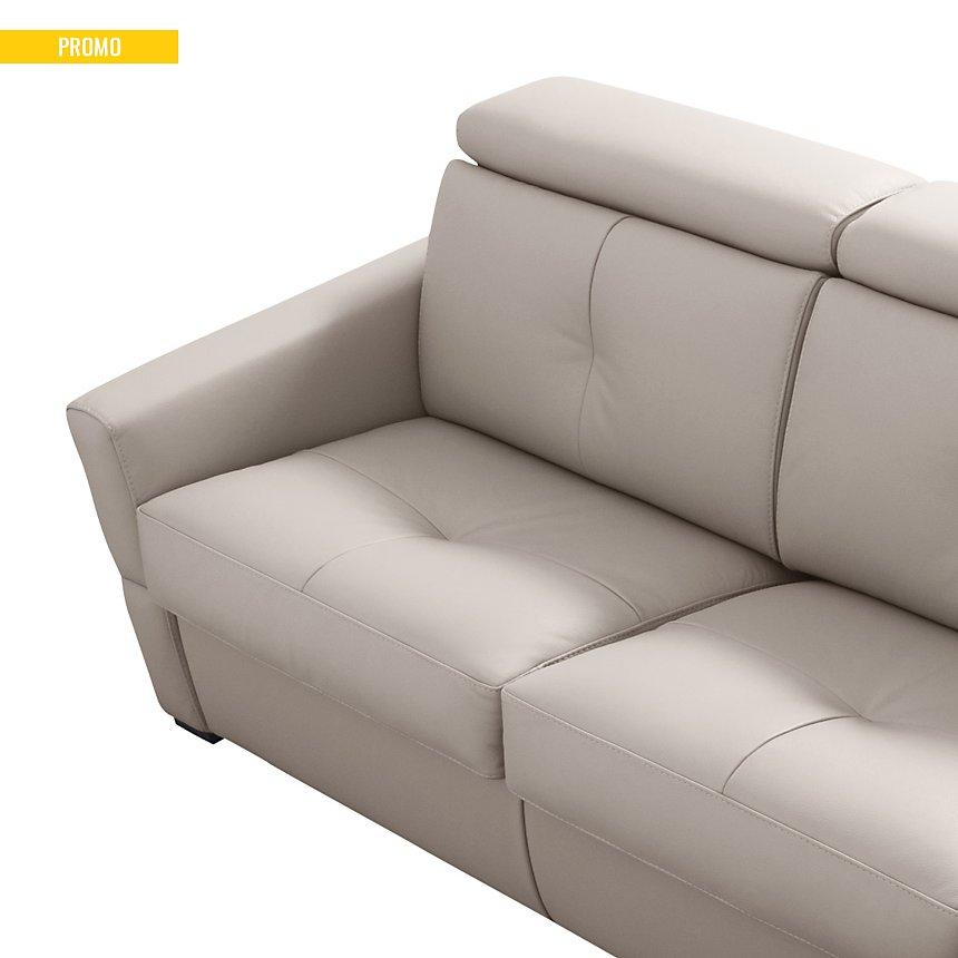 Canapé cuir avec têtières relevables Severin